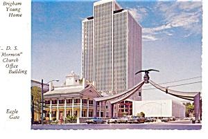 Salt Lake City UT Brigham Young Home Postcard n0686 (Image1)