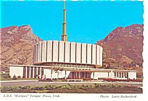 Provo UT LDS Temple Postcard n0687 (Image1)