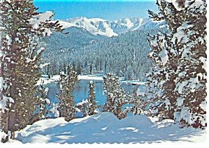 Mt Evans And Echo Lake Colorado Postcard N0716