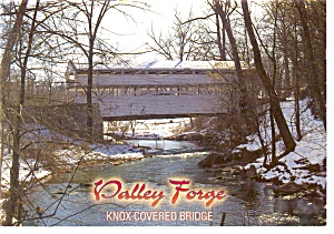 Valley Forge, PA,  Knox Covered Bridge Postcard (Image1)