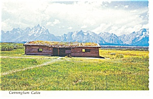 Cunningham Cabin Grand Teton National Park WY Postcard n0738 (Image1)