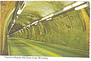 Tunnel at Buffalo Bill Dam Wyoming Postcard (Image1)