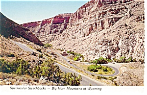 Switchbacks-Big Horn Mountains, WY Postcard (Image1)