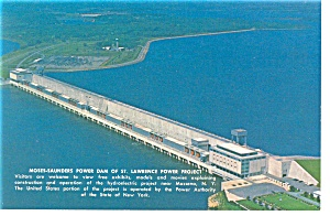 Moses Saunders Power Dam on St. Lawrence Postcard (Image1)