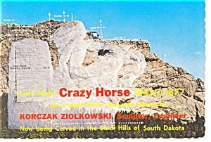 Crazy Horse Indian Mountain Memorial SD Postcard n0789 (Image1)