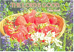 Ps 100 V5 The Lord is Good  Postcard (Image1)