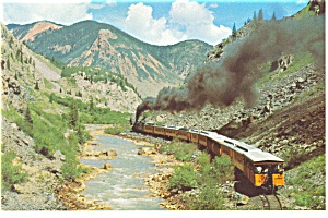 Narrow Gauge Steam Passenger Train in CO  Postcard n0858 (Image1)
