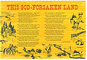 This God-Forsaken Land, Juanita Leach Poem Postcard (Image1)