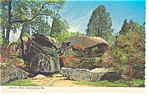 Gettysburg, PA, The Devils Den Postcard (Image1)