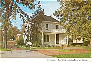 Abilene KS Eisenhower Home Postcard n0894 (Image1)