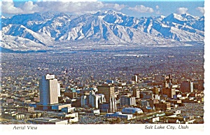 Salt Lake City UT Aerial View Postcard n0917 (Image1)