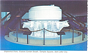 Salt Lake City  UT Baptismal Font Postcard n0921 (Image1)