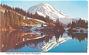 Mt Rainier and Eunice Lake, Washington Postcard (Image1)