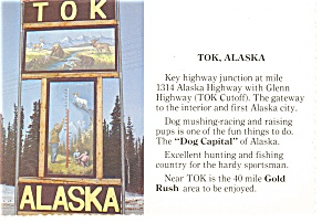 TOK Alaska Highway Junction Postcard n0941 (Image1)