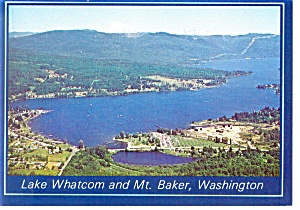 Mt Baker and Lake Whatcom, Washington Postcard (Image1)