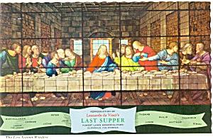 Forest Lawn CA Last Supper Window Postcard n0971 (Image1)