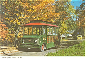 Eureka Springs,AR, Trolley Car Bus Postcard (Image1)