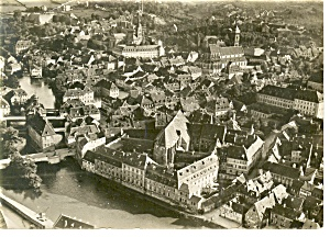 Bamberg Germany Aerial View Real Photo Postcard n1012 (Image1)
