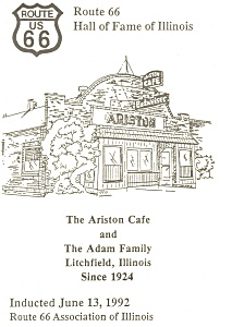 Litchfield  IL Ariston Cafe Route 66 Postcard n1015 (Image1)