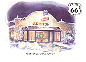 Litchfield Il The Ariston Cafe Route 66 Postcard N1016