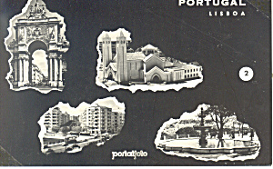 Lisbon Portugal Multi Views Postcard n1028 (Image1)