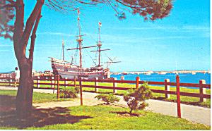Mayflower II at Plymouth MA Postcard n1034 (Image1)