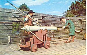 First Fort Plimouth Plantation, MA Postcard 1955 (Image1)
