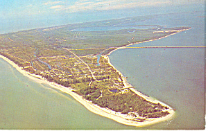 Aerial View Of Sanibel Island,florida Postcard 1998
