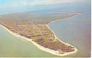 Aerial View of Sanibel Island Florida  Postcard n1053 1998 (Image1)