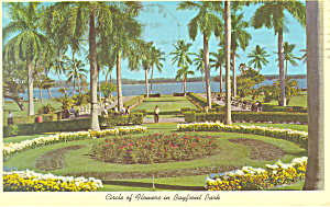 Circle of Flowers Bayfront Park Miami Florida Postcard n1063 (Image1)