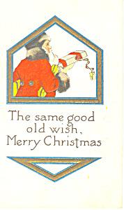 Merry Christmas Vintage Postcard n1082 (Image1)
