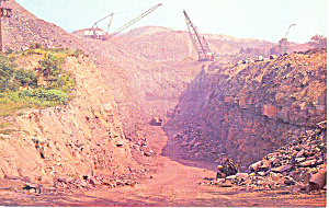 Coal Stripping Operation, PA Postcard (Image1)