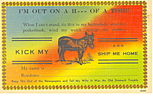 I'm out on a H___ of a time Postcard n1136 (Image1)