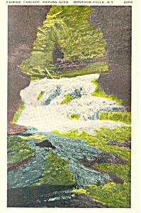 Havana Glen Montour Falls New York  Postcard n1158 (Image1)