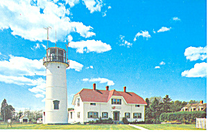 Chatham Lighthouse Cape Cod Ma Postcard N1169