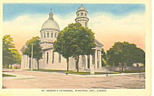 St George s Cathedral Kingston Ontario Canada Postcard n1180 (Image1)