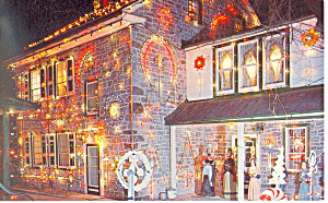 Koziar s Christmas Village Bernville PA Postcard n1183 (Image1)