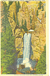 Tower Fall Yellowstone National Park WY Postcard n1184 (Image1)