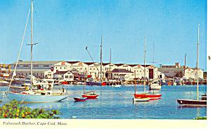 Falmouth Harbor, Cape Cod MA Postcard (Image1)