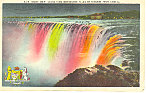 Night View Horseshoe Falls, Niagara Falls Postcard (Image1)