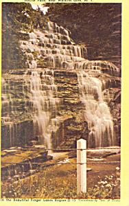Hector Falls Near Watkins Glen NY Postcard n1193 (Image1)