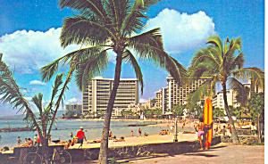 Waikiki Beach Hawaii Postcard n1218 (Image1)