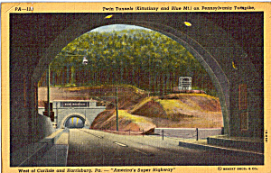 Twin Tunnels,kittatinny And Blue Mt,pa Turnpike