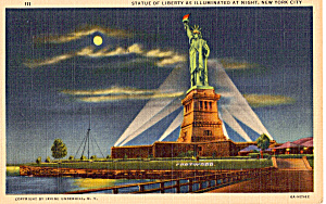Statue Of Liberty as Illuminated at Night n1291 (Image1)