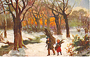 Winter Firing Raphael Tuck Postcard n1366 (Image1)