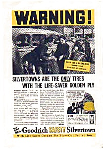 Goodrich Life-Saver Golden Ply  Tire AD 1930s (Image1)