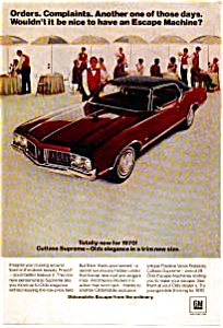 1970 Oldsmobile Cutlass Supreme Ad (Image1)