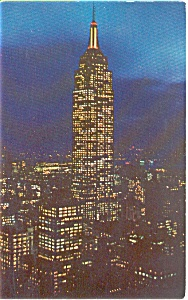 Empire State Building at Night Postcard p0006 (Image1)