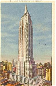 Empire State Building New York City Postcard p0021 (Image1)