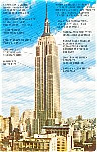 Empire State Building New York City Postcard p0046 (Image1)